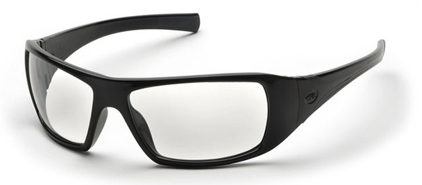 Pyramex Goliath Safety Glasses with Black Frame and Clear Lens SB5610D