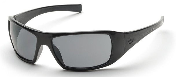 Pyramex Goliath Safety Glasses with Black Frame and Gray Lens