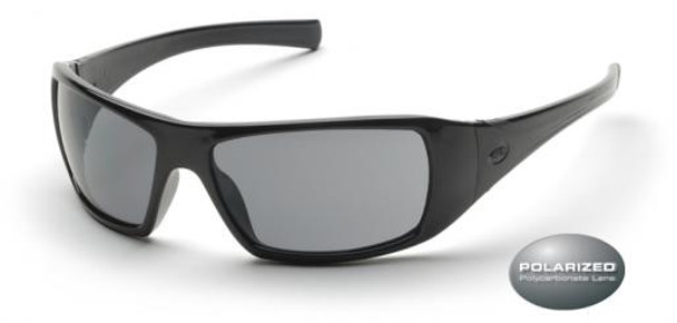 Pyramex Goliath Safety Glasses with Black Frame and Gray Polarized Lens SB5621D