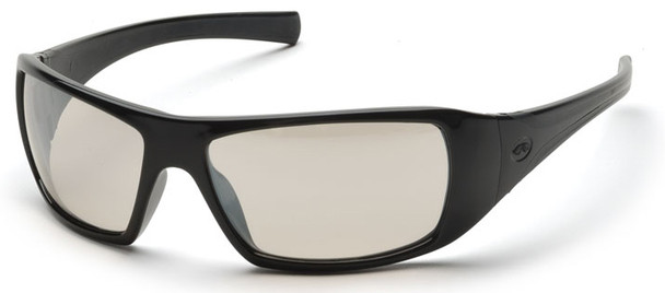 Pyramex Goliath Safety Glasses with Black Frame and Indoor/Outdoor Lens SB5680D