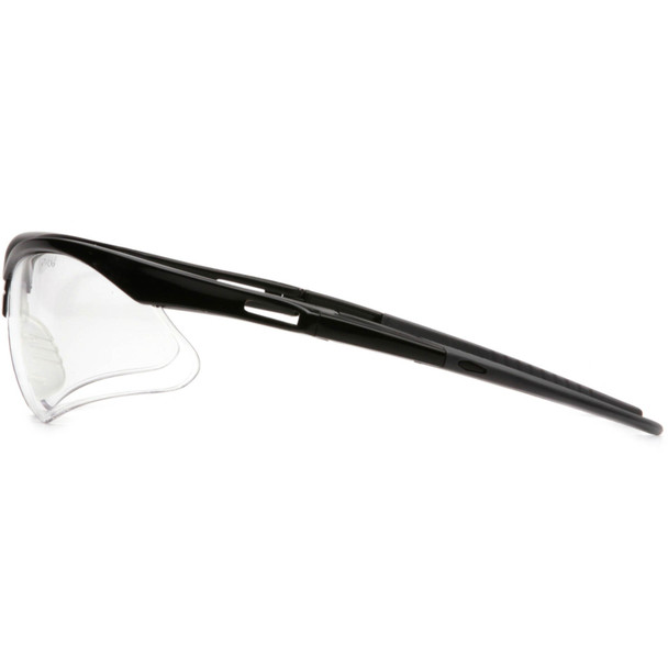 Pyramex PMXtreme Safety Glasses with Black Frame and Clear Lens Side View