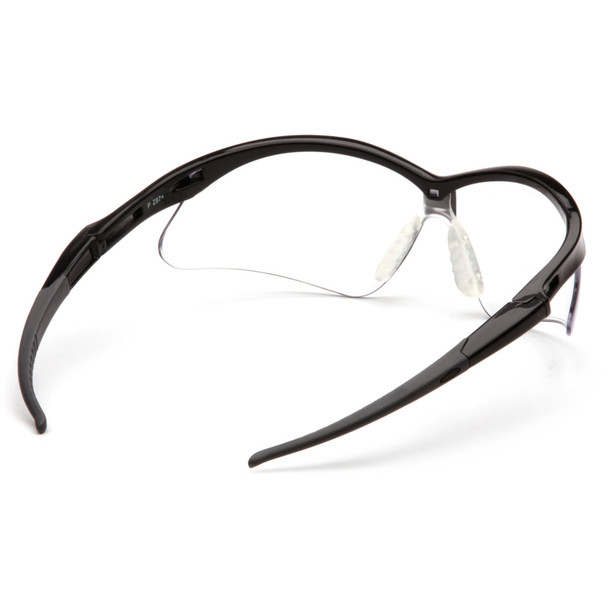Pyramex PMXtreme Safety Glasses with Black Frame and Clear Lens Inside View