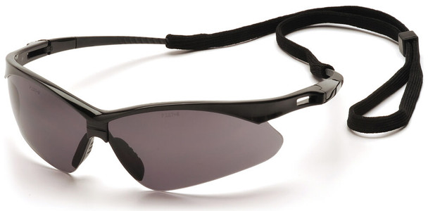 Pyramex PMXtreme Safety Glasses with Black Frame and Gray Anti-Fog Lens