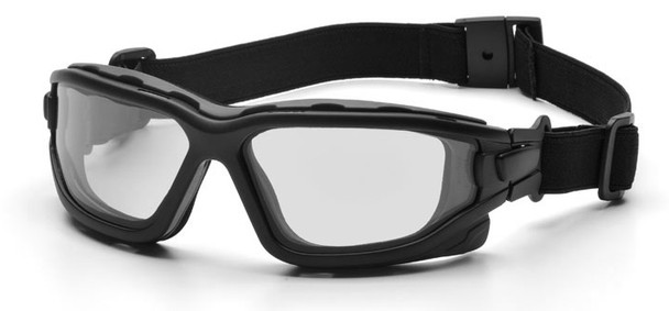 Pyramex I-Force Safety Goggle/Glasses with Black Frame and Clear Anti-Fog Lenses SB7010SDT