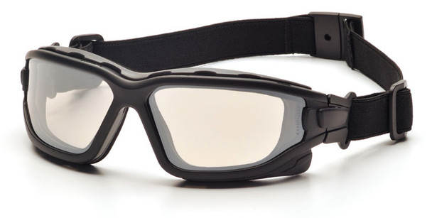 Pyramex I-Force Safety Goggle/Glasses with Black Frame and Indoor/Outdoor Anti-Fog Lenses SB7080SDT
