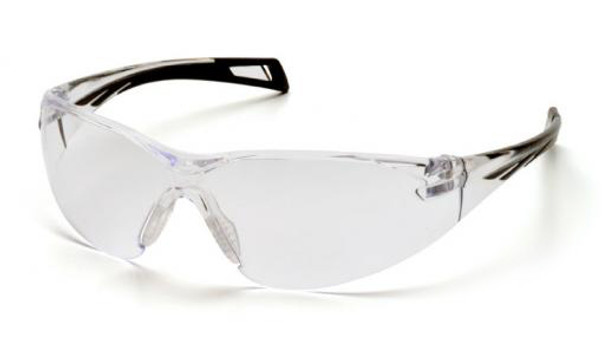 Pyramex PMXSlim Safety Glasses with Black Temples and Clear Anti-Fog Lens SB7110ST