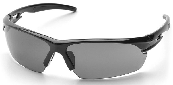 Pyramex Ionix Safety Glasses with Black Frame and Smoke Anti-Fog Lenses SB8120DT