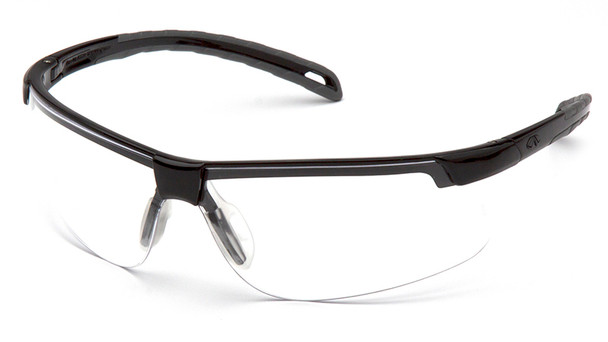 Pyramex Ever-Lite Safety Glasses with Black Frame and Clear Lenses