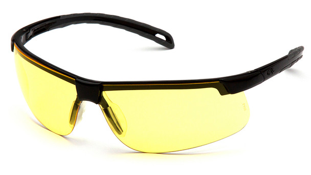 Pyramex Ever-Lite Safety Glasses with Black Frame and Amber Lenses