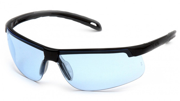 Pyramex Ever-Lite Safety Glasses with Black Frame and Infinity Blue Lenses - SB8660D
