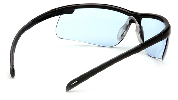 Pyramex Ever-Lite Safety Glasses with Black Frame and Infinity Blue Lenses - Inside View