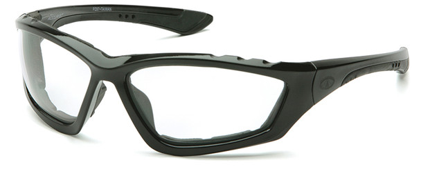 Pyramex Accurist Safety Glasses with Black Frame and Clear Anti-Fog Lens SB8710DTP