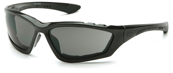 Pyramex Accurist Safety Glasses with Black Frame and Gray Anti-Fog Lens SB8720DTP