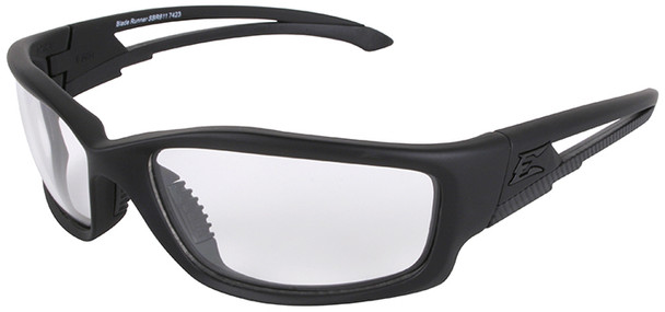 Edge Blade Runner Tactical Safety Glasses with Black Frame and Clear Lens