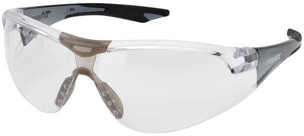 Elvex Avion SlimFit Safety Glasses with Black Temples and Clear Anti-Fog Lens