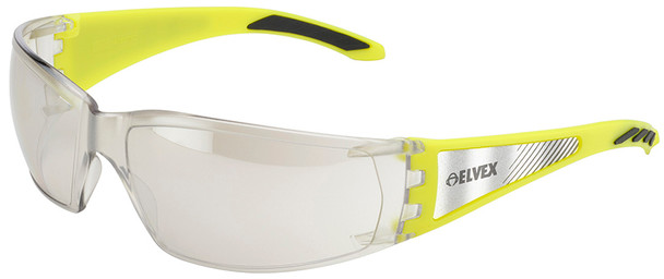 Elvex Reflect-Specs Safety Glasses with Reflect Temples, Indoor/Outdoor Lens