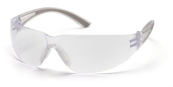 Pyramex Cortez Safety Glasses Gray Temples Clear Lens SG3610S