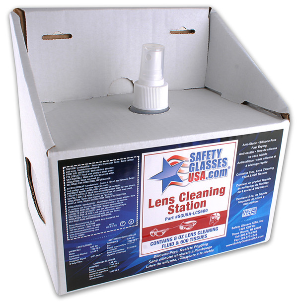 SGUSA Lens Cleaning Station with Cleaning Spray and 600 Tissues (SGUSA-LCS600)