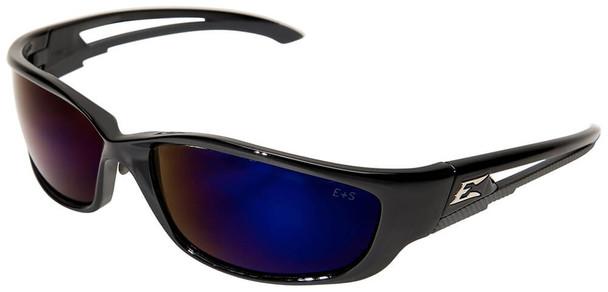 Edge Kazbek XL Safety Glasses with Blue Mirror Lens
