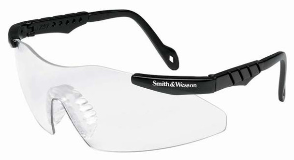 Smith & Wesson Magnum Safety Glasses with Black Frame and Clear Lens 19799