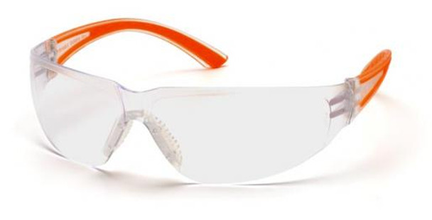 Pyramex Cortez Safety Glasses Orange Temples Clear Lens SO3610S