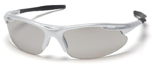 Pyramex Avante Safety Glasses with Silver Frame and Indoor/Outdoor Lens SS4580D