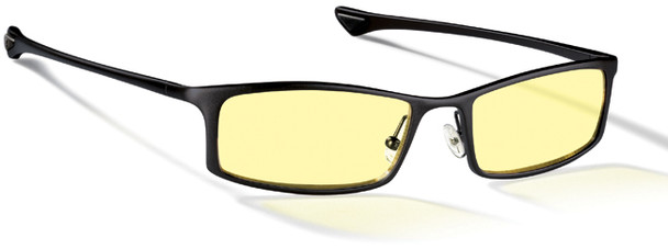 Gunnar Phenom Computer Glasses with Onyx Frame and Amber Lens
