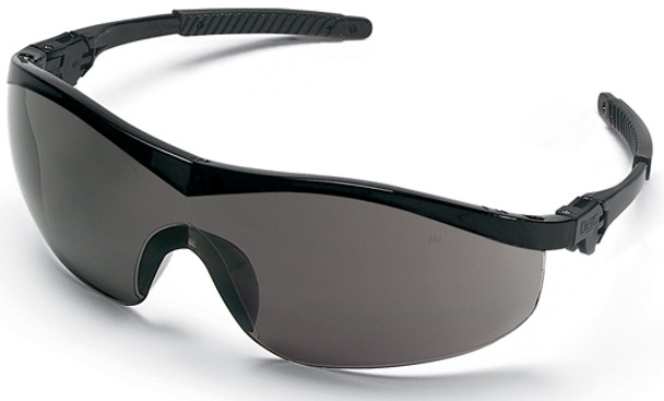 Crews Storm Safety Glasses with Black Frame and Gray Lens ST112