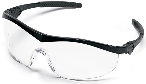Crews Storm Safety Glasses with Black Frame and Clear Lens ST110