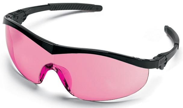 Crews Storm Safety Glasses with Black Frame and Vermilion Lens ST11V