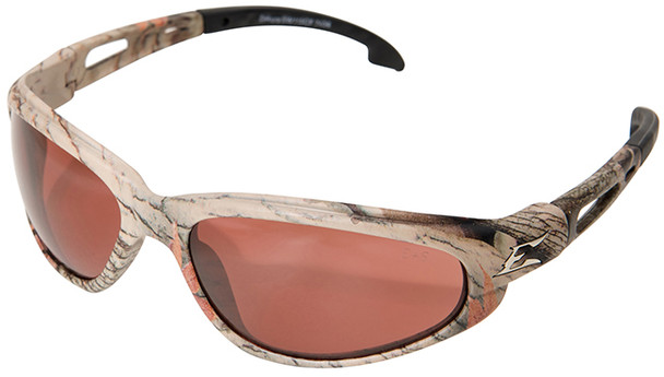 Edge Dakura Safety Glasses with Camo Frame and Copper Driving Lens