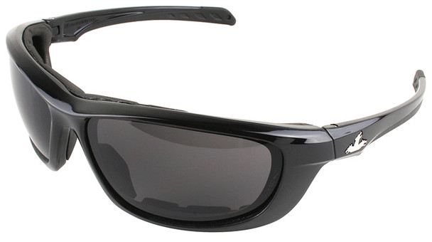 Crews USS Defense Foam Safety Glasses with Black Frame and Gray IR 3.0 Lens