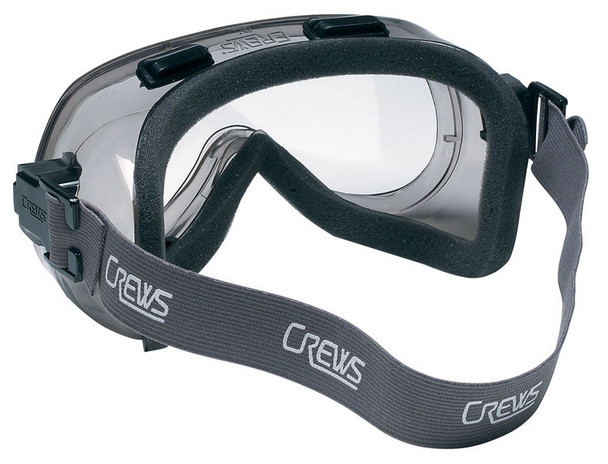 Crews Verdict Indirect Vent Safety Goggle with Foam Lining and Clear Anti-Fog Lens 2410F