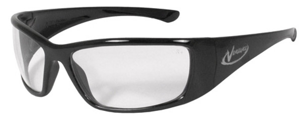 Radians Vengeance Safety Glasses with Black Frame and Clear Anti-Fog Lens