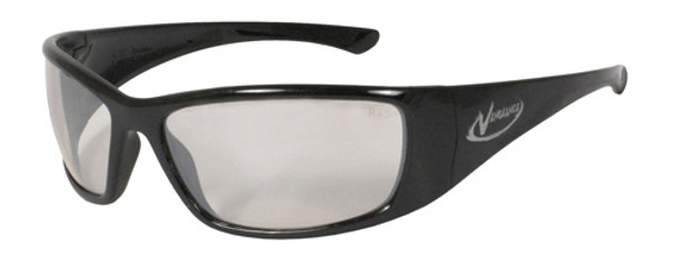 Radians Vengeance Safety Glasses with Black Frame and Indoor/Outdoor Lens