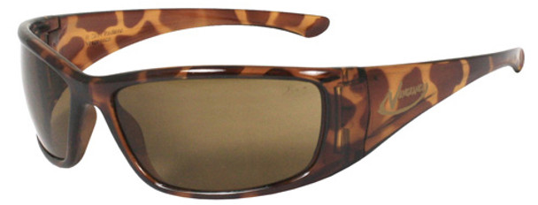 Radians Vengeance Safety Glasses with Tortoise Frame and Brown Polarized Lens