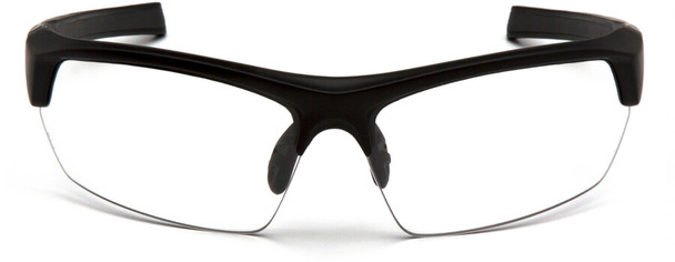 Venture Gear Tensaw Safety Glasses with Black Frame and Clear Anti-Fog Lens - Front
