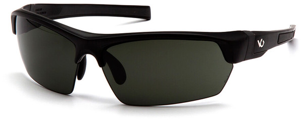Venture Gear Tensaw Safety Sunglasses with Black Frame and Smoke Green Anti-Fog Lens