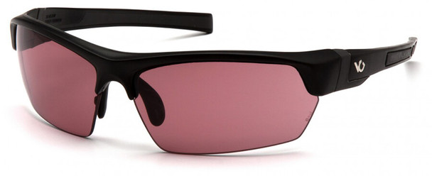 Venture Gear Tensaw Safety Sunglasses with Black Frame and Vermillion Anti-Fog Lens