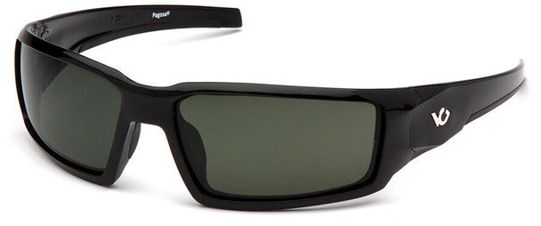 Venture Gear Pagosa Safety Sunglasses with Black Frame and Smoke Green Anti-Fog Lens