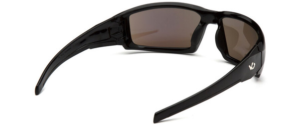Venture Gear Pagosa Safety Sunglasses with Black Frame and Ice Blue Mirror Anti-Fog Lens - Back