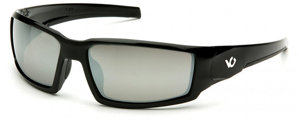 Venture Gear Pagosa Safety Sunglasses with Black Frame and Silver Mirror Anti-Fog Lens