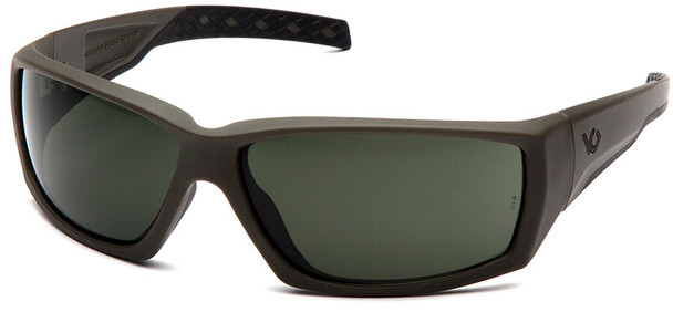 Venture Gear Overwatch Tactical Safety Sunglasses with OD Green Frame and Smoke Green Anti-Fog Lens