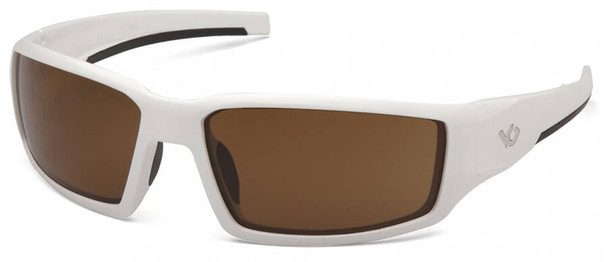 Venture Gear Pagosa Safety Sunglasses with White Frame and Bronze Anti-Fog Lens