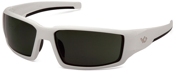 Venture Gear Pagosa Safety Sunglasses with White Frame and Smoke Green Anti-Fog Lens