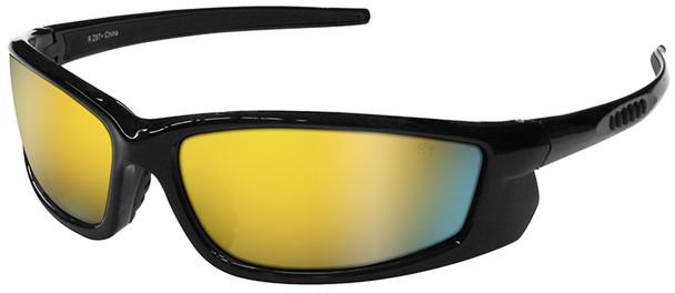 Radians Voltage Safety Glasses with Black Frame and Electric Orange Lens VT1-65