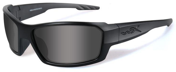 Wiley X Rebel Black Ops Safety Sunglasses Matte Black Frame Smoke Lens ACREB01