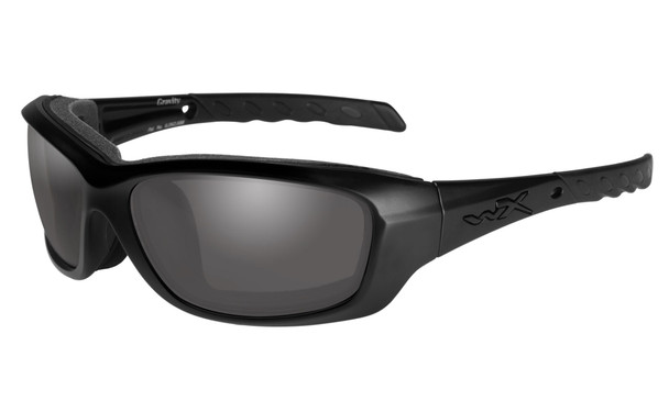 Wiley X Gravity Safety Sunglasses with Matte Black Frame and Smoke Grey Lens CCGRA01