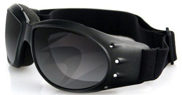 Bobster Cruiser Motorcycle Goggles with Black Frame and Smoked Anti-Fog Lens