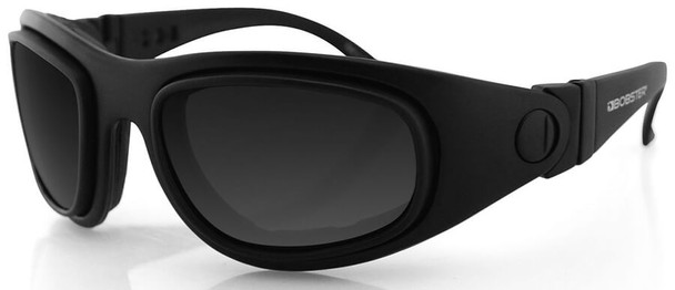 Bobster Sport & Street II Blk Frm 3 Lens Pkg Motorcycle Sunglasses